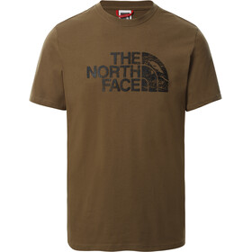 The North Face Woodcut Dome SS Tee Men, military olive